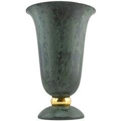 French Art Deco Cornet Lamp, Gold Leaf, 1930