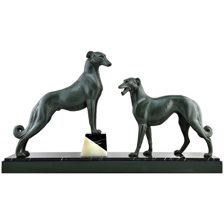 French Art Deco Greyhound 'Borzoi' Sculpture, 1930