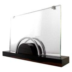 French Art Deco Macassar, Chrome and Mirror Photo Frame, 1930