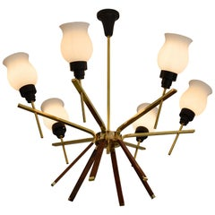 French Midcentury Chandelier, 1960s