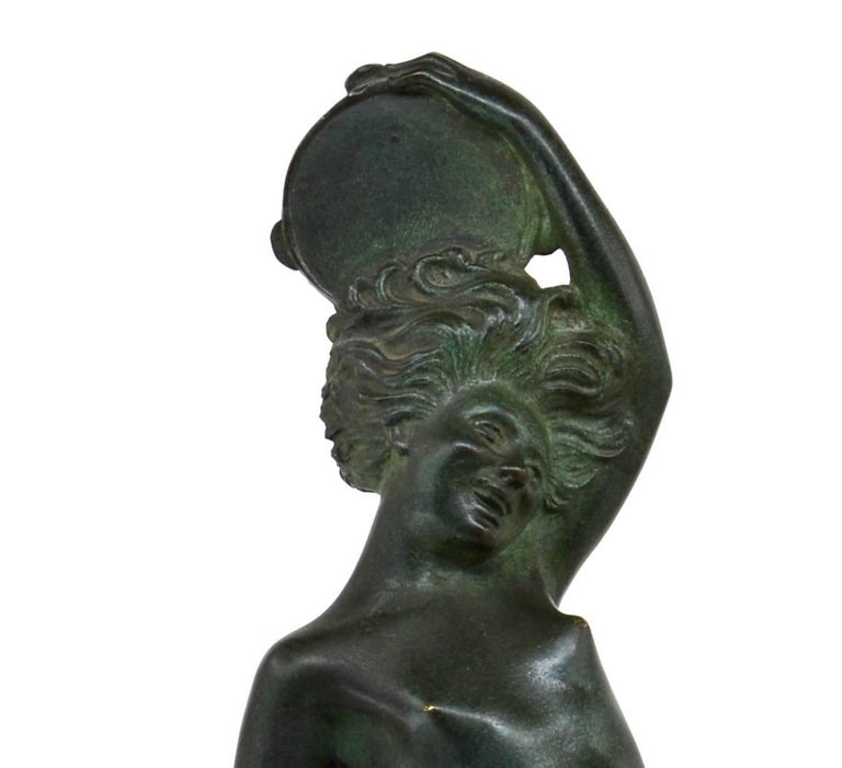 Early 20th Century Robert Bousquet French Art Deco Bronze Dancer Sculpture, 1925 For Sale