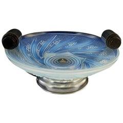 Choisy-le-Roi French Art Deco Opalescent Glass Fruit Bowl, 1930