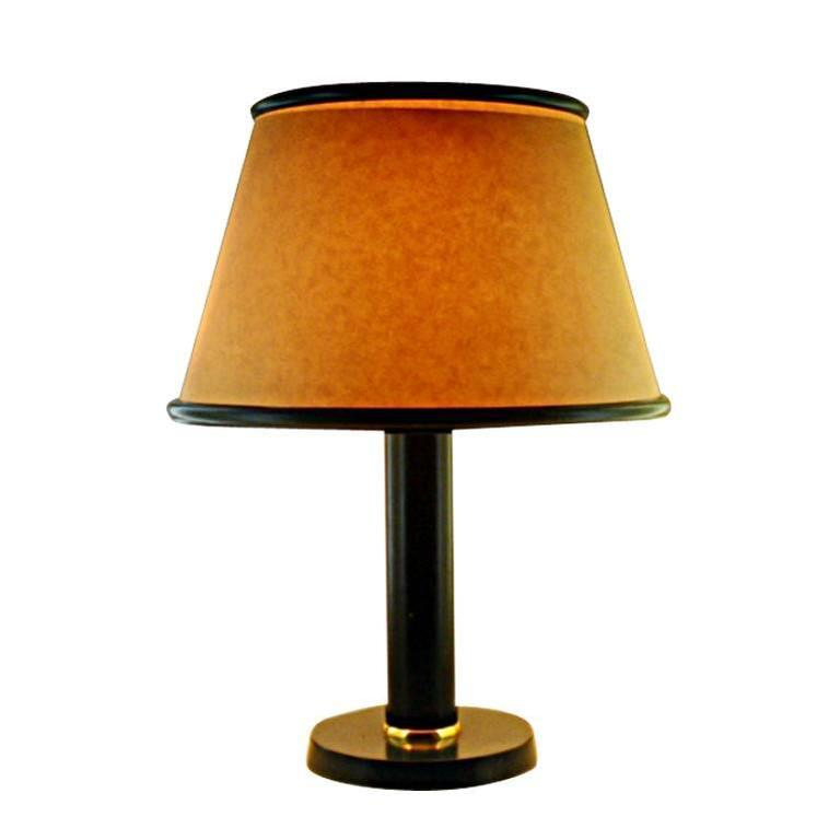 Jacques adnet large leather lamp late 1940s for sale at for Chair table lamp yonge st