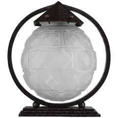 Daum French Art Deco Table Lamp, Late 1920s