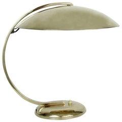 1930s Art Deco Bauhaus Hillebrand Brass Desk Lamp