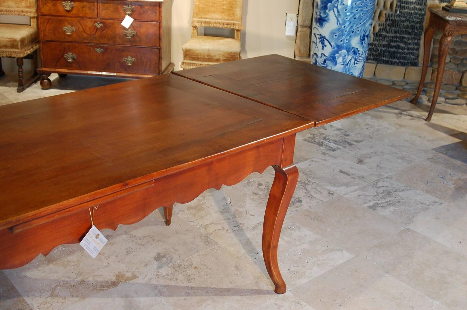 Cherry Extension Farm Table For Sale at 1stdibs