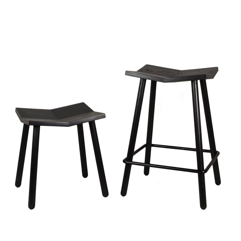 Counter Height Modern Stools : Modern Black Mitre Wooden Stool, Contemporary Counter-Height Stool For ...