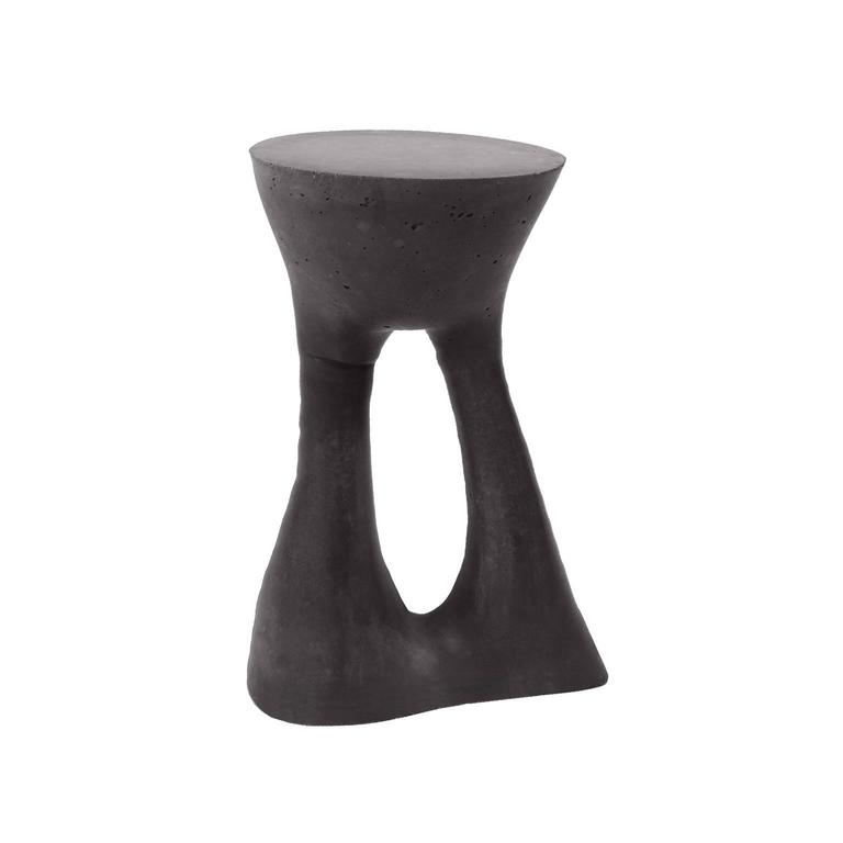 American Pair of Charcoal Kreten Side Tables from Souda, Made to Order For Sale
