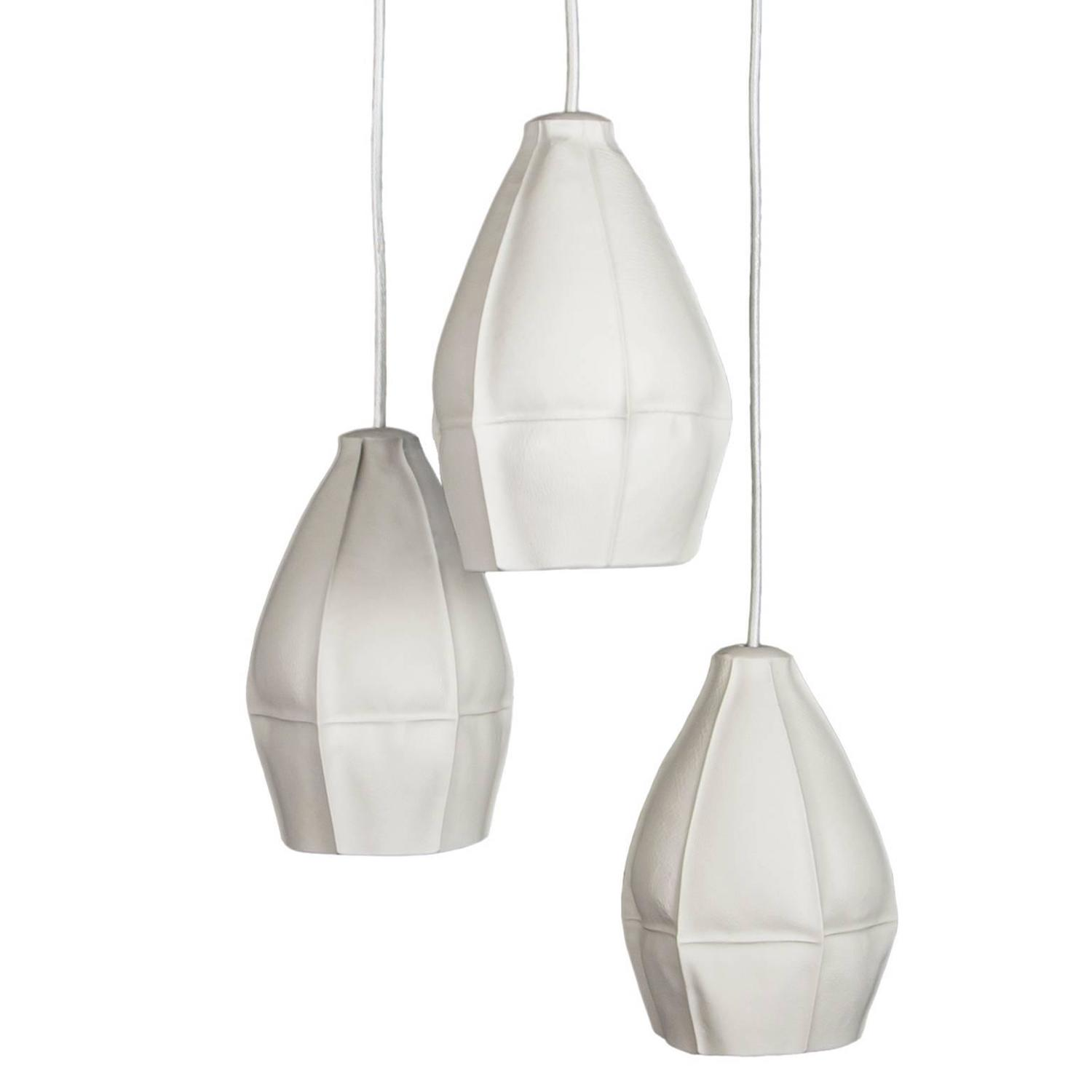Kawa Pendant Light Cluster Of Three From Souda, Modern Porcelain Lamp,  Ceramic