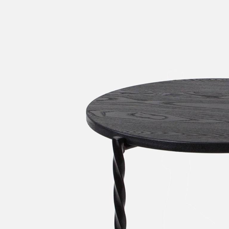 Modern Customizable Von Iron Coffee Table from Souda, Natural Ash Top, Made to Order For Sale
