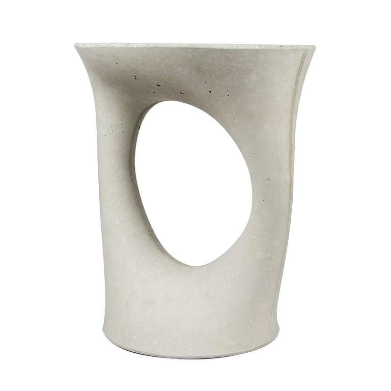 Grey Short Kreten Side Table From Souda, Modern Concrete Or Cement End Table  2