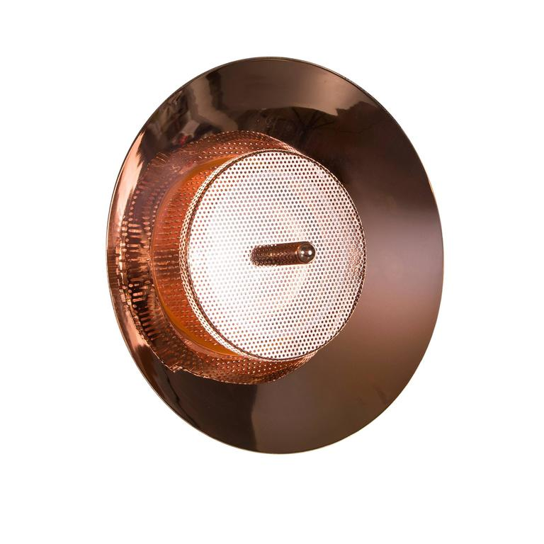 Signal Wall/Ceiling Light from Souda, Copper, Modern Sconce or Flush Mount For Sale at 1stdibs