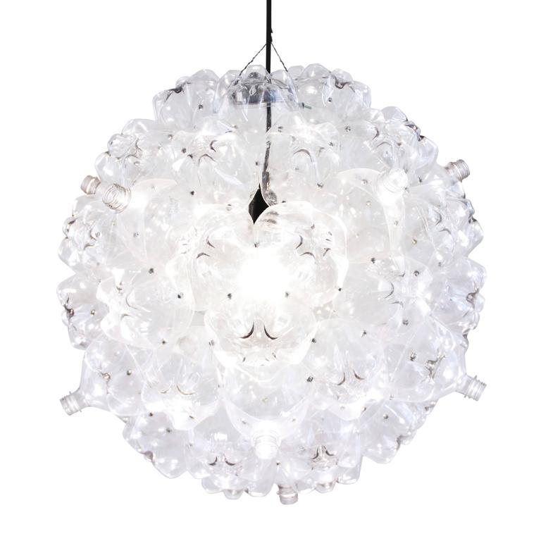 Clear Bubble Chandelier From Souda Modern Pendant Made Recycled Bottles For