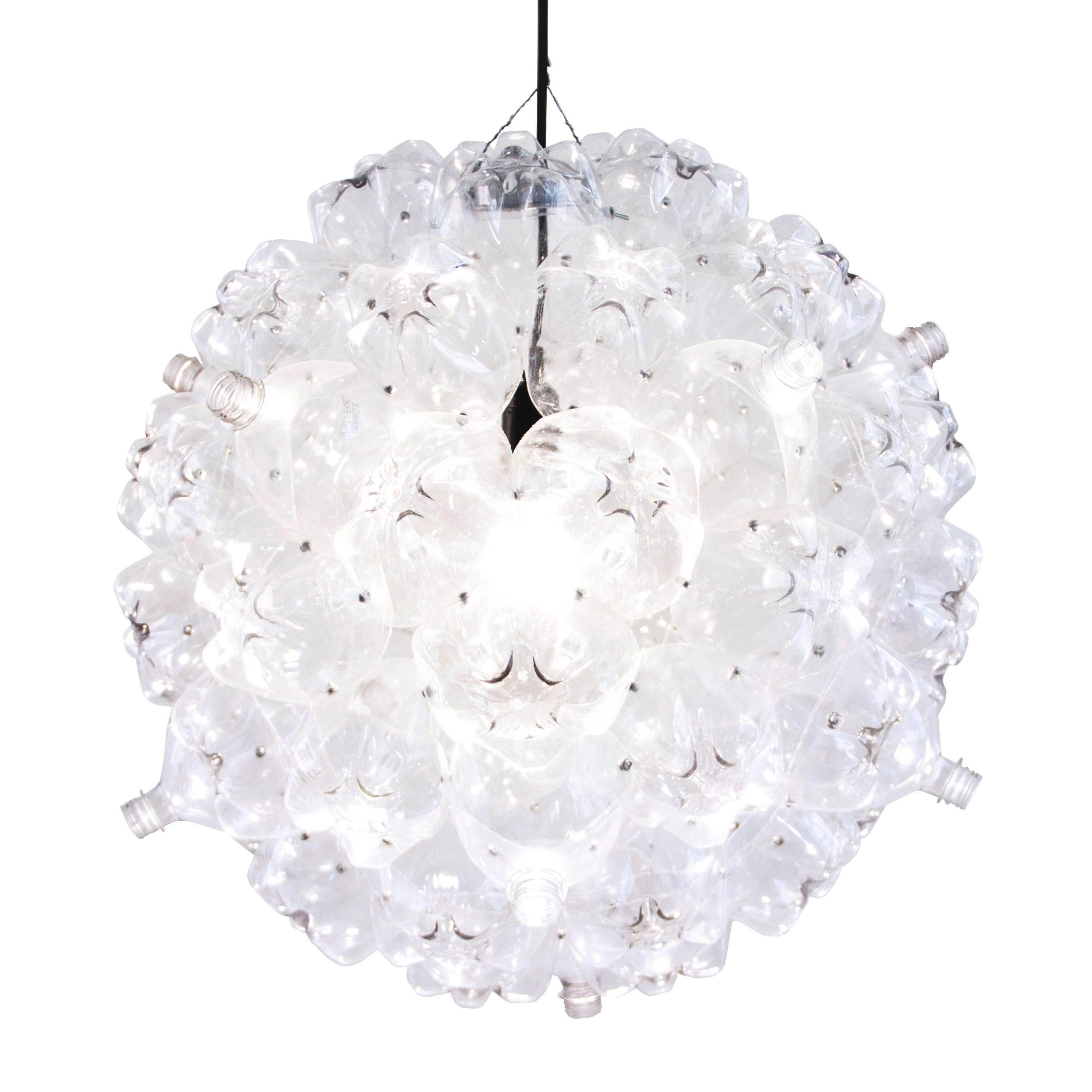Clear bubble chandelier from souda modern pendant made from clear bubble chandelier from souda modern pendant made from recycled bottles at 1stdibs arubaitofo Image collections