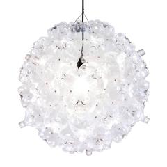 Clear Bubble Chandelier, Modern Pendant Made from Recycled Bottles, from Souda