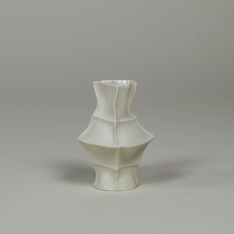 Set of Five Kawa Vases, Cast in Leather, Limited, Handmade by the Designer 7