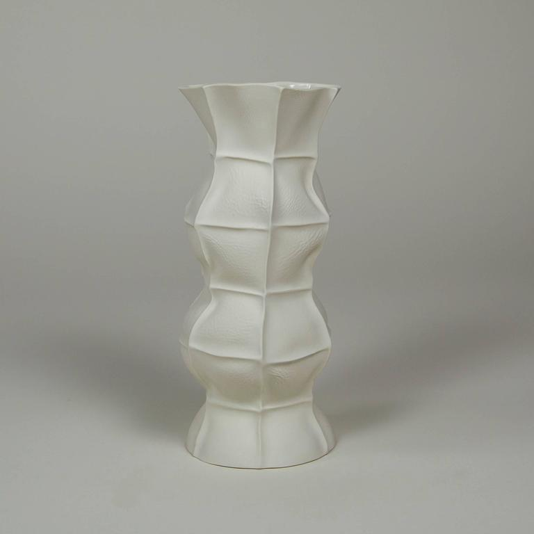 Set of Five Kawa Vases, Cast in Leather, Limited, Handmade by the Designer 4