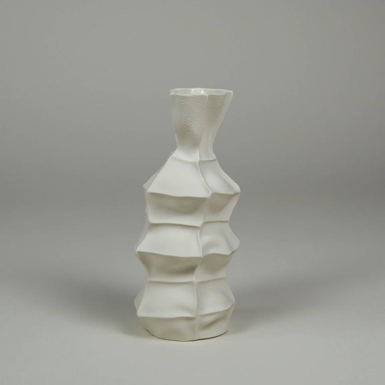 Set of Five Kawa Vases, Cast in Leather, Limited, Handmade by the Designer 5