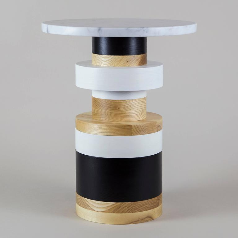 American Customizable Sass Side Tables from Souda, Set of Three, Made to Order For Sale