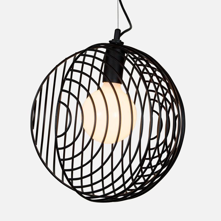 Modern Dana Pendant Light, Black from Souda, Made to Order For Sale