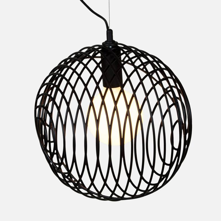 Dana Pendant Light, Black from Souda, Made to Order In New Condition For Sale In Brooklyn, NY