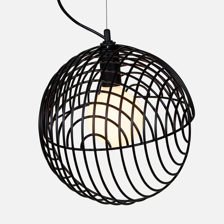Metal Dana Pendant Light, Black from Souda, Made to Order For Sale