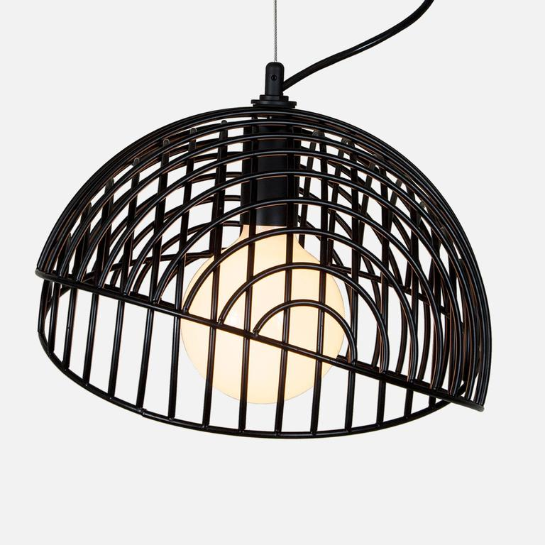 Contemporary Dana Pendant Light, Black from Souda, Made to Order For Sale