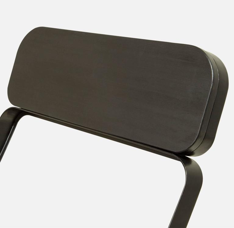 American Set of Four Profile Folding Chairs, Black and Black, from Souda, Made to Order For Sale