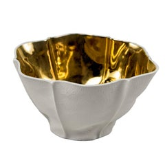 Kawa Bowl with Gold Glaze by Luft Tanaka, Made to Order