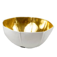 Large Kawa Bowl with Gold Glaze by Luft Tanaka, Made to Order