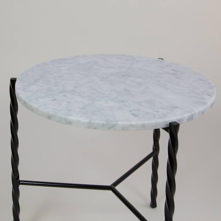Modern Customizable Pair of Von Iron Side Tables from Souda, Made to Order For Sale