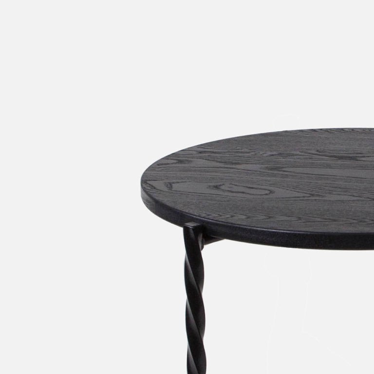 Contemporary Customizable Pair of Von Iron Side Tables from Souda, Made to Order For Sale