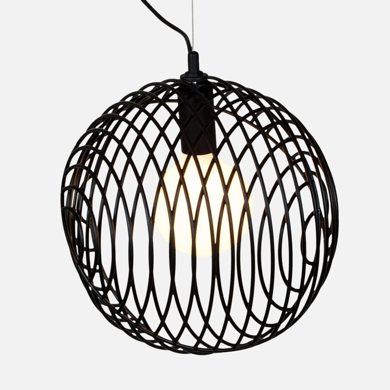 Contemporary Dana Pendant Light, Black, Cluster of Three, from Souda, Made to Order For Sale