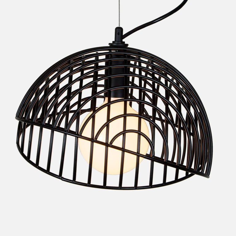 Metal Dana Pendant Light, Black, Cluster of Three, from Souda, Made to Order For Sale