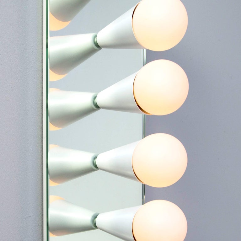 Metal Echo Six-Sconce / Flush Mount in White, from Souda For Sale