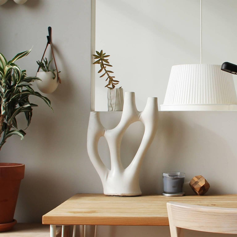 Modern Kreten Candelabra from Souda, Red, in Stock For Sale