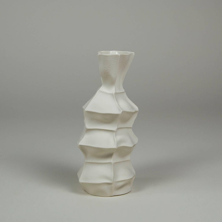 Cast Set of Five Kawa Vases by Luft Tanaka, in Stock For Sale