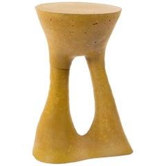 Tall Mustard Kreten Side Table from Souda, in Stock