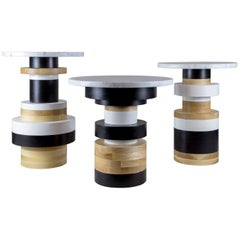 Customizable Sass Side Tables from Souda, Set of Three, in Stock