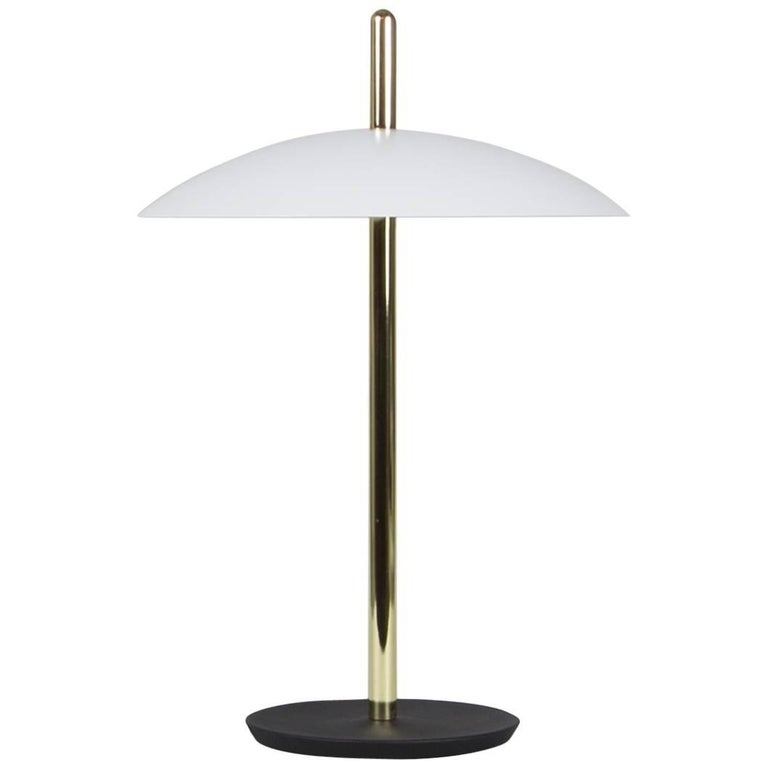 Customizable Signal Table Light from Souda, White x Nickel, Made to Order In New Condition For Sale In Brooklyn, NY