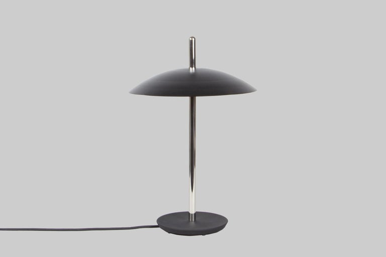 Modern Customizable Signal Table Lamp from Souda, Black and Brass, Made to Order For Sale