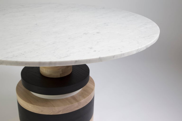 Customizable Sass Dining Table from Souda, Medium, Black Marble Top In New Condition For Sale In Brooklyn, NY