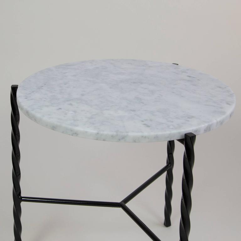 The Von Iron series consists of coffee and side tables with a distinctive twist. Inspired by traditional blacksmith crafts, twisted metal legs combine with marble or wood to create an instantly iconic line of tables. Classy, modern, and visually
