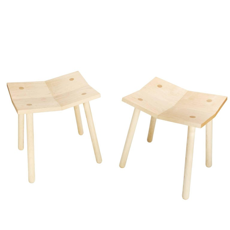 Customizable Pair of Mitre Stools from Souda, Made to Order
