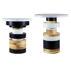 Customizable Sass Side Table Pair from Souda, Short and Medium, Made to Order