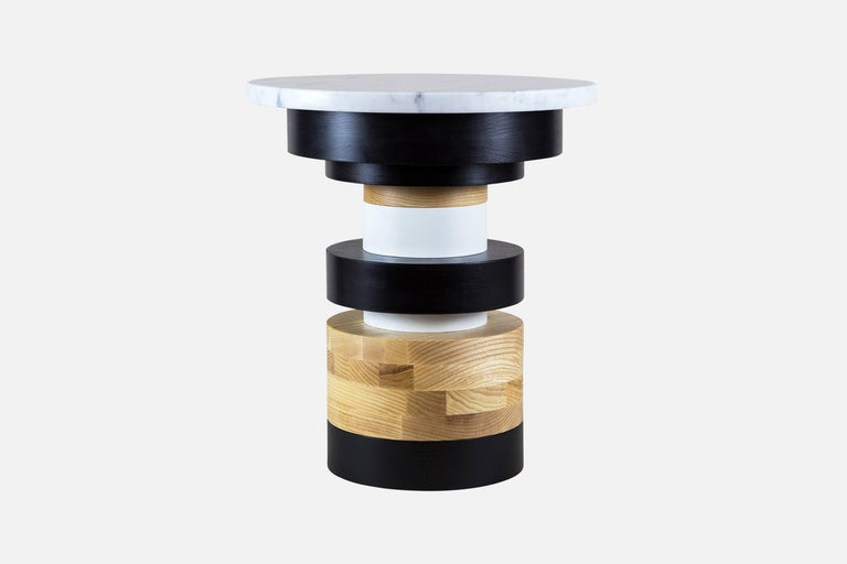 Modern Customizable Sass Side Table Pair from Souda, Short and Medium, Made to Order For Sale