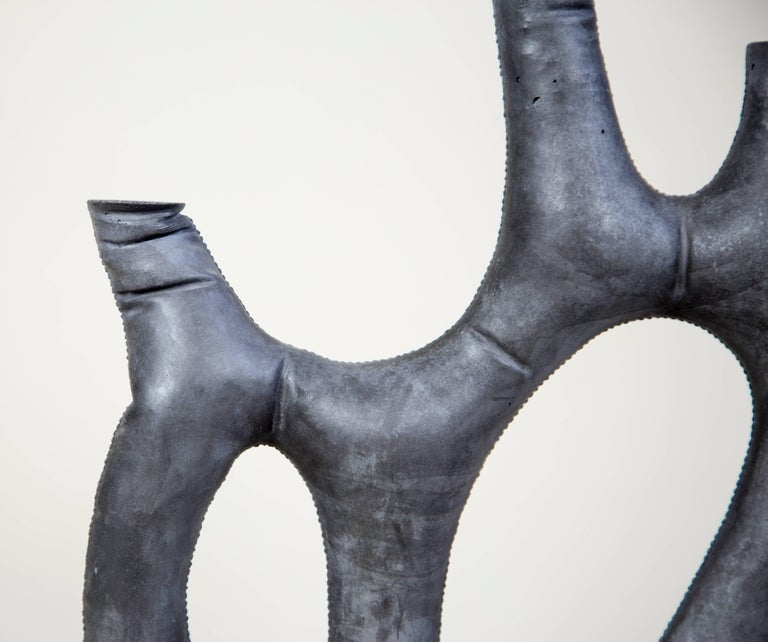 Cast Uninque Kreten Candelabra from Souda, Charcoal, in Stock For Sale