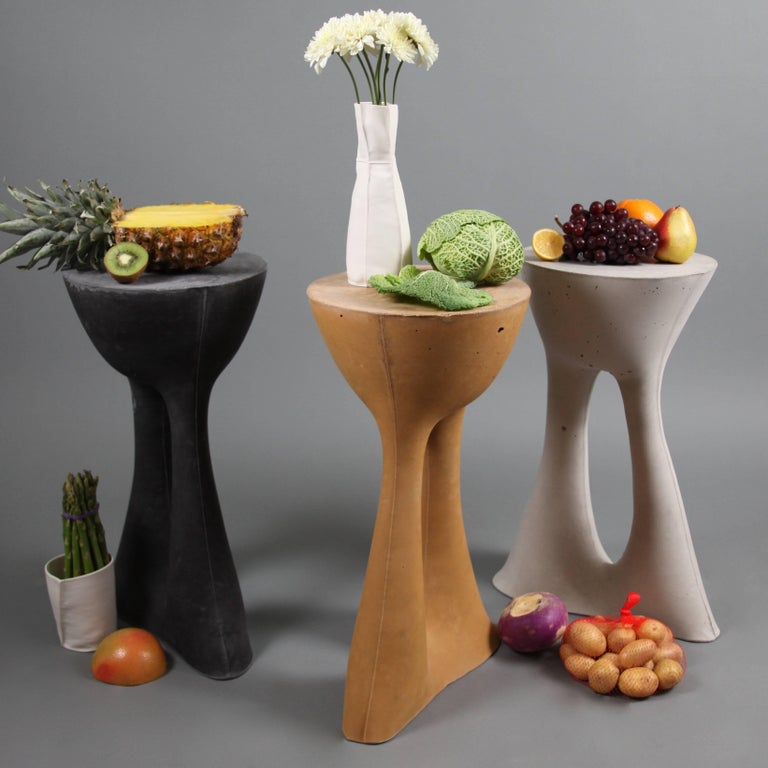 Modern Tall Mustard Kreten Side Table from Souda, Made to Order For Sale