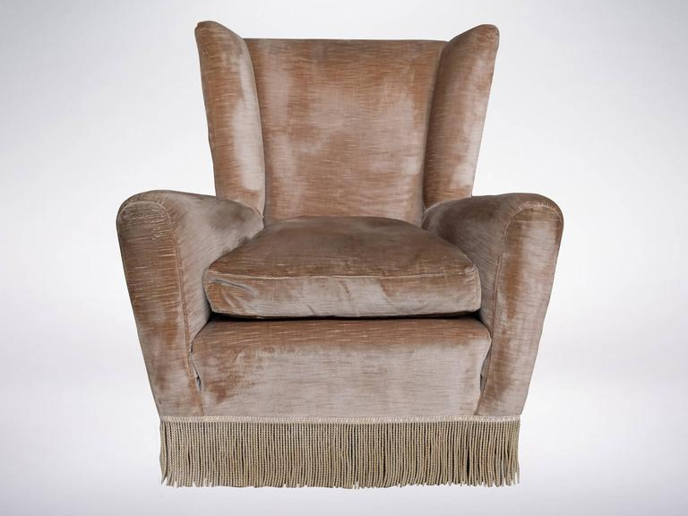 cozy wingback chair cozy wingback armchair in the style of paolo buffa from 13569 | buffawingbackattr01 l