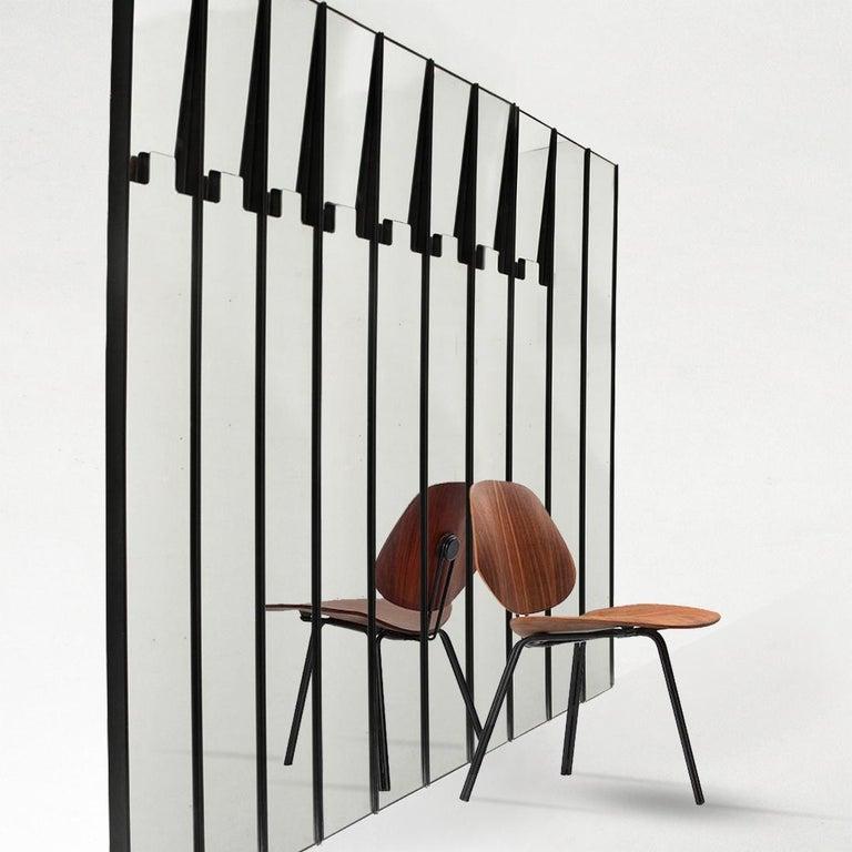 Italian Luciano Bertoncini for Elca, Gronda Mirror Hanger Set of 16 Elements, 1971 For Sale